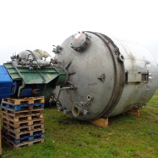 Stainless Steel Reactors Europe Over 20,000 Litres