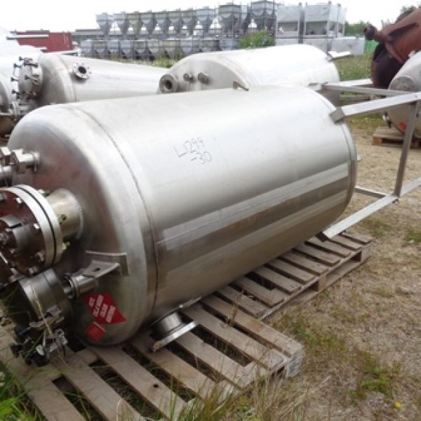 1,000 Litre Giusti Stainless Steel Vertical Mixing Vessel