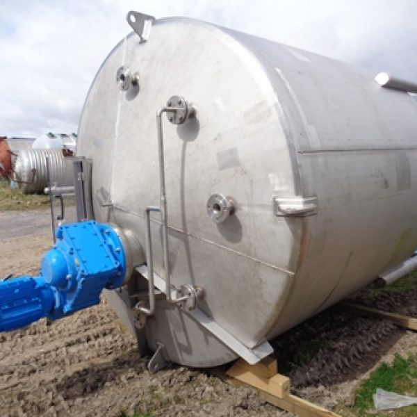 (2) Used 10,000 Litre Vertical Stainless Steel Mixing Vessel